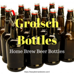 Grolsch style swing top beer bottles for home brewing