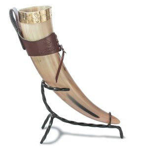 medieval handcrafted viking drinking horn