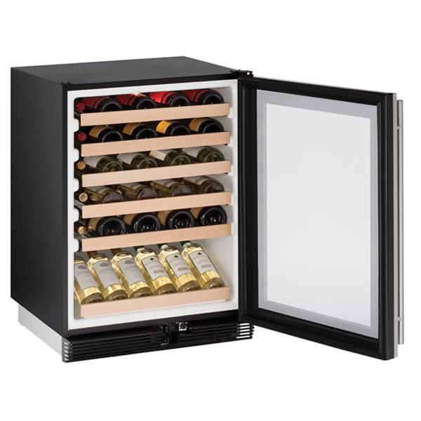 U-line 100 series 24 inch wine fridge with open door