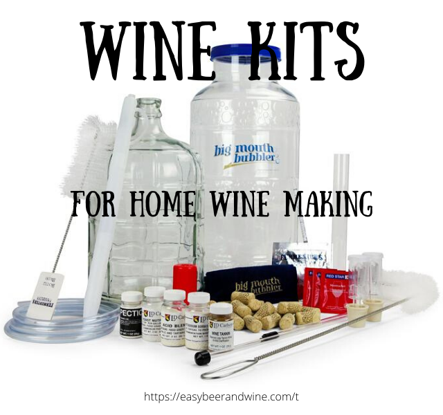 Home wine making kit with all ingredients.