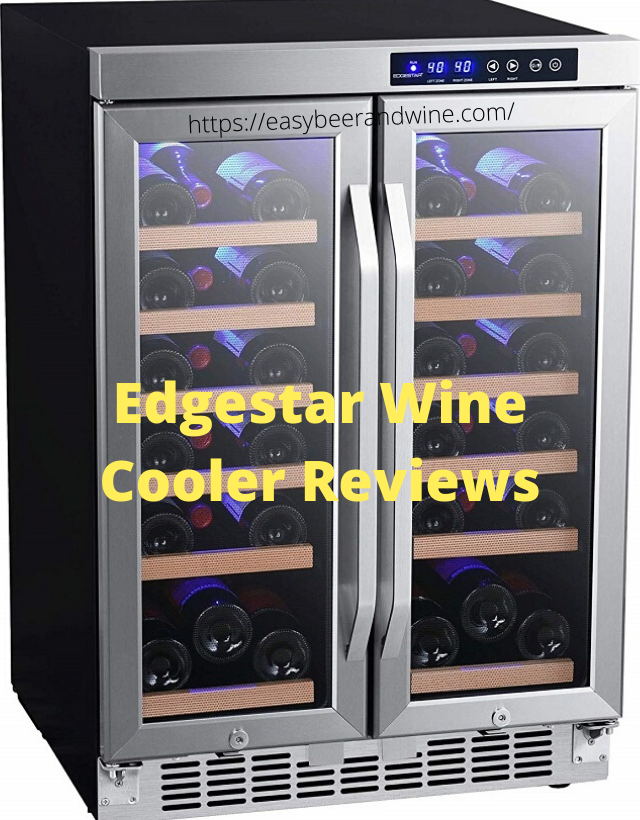 Edgestrar dual zone wine refrigerator with glass door